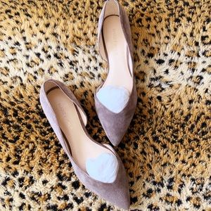 Marc Fisher Grey Suede Flats